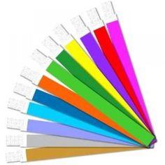 Pulseiras de Identificação em variedade de cores fluorescentes