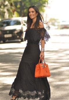 0d3d7808784 Maria Sophia Black Lace Off The Shoulder Maxi Dress – Modapin