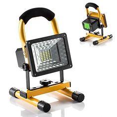 GRDE Projecteur led Rechargeable Spot led 15W Portable, Eclairage Etanche et Leger, 360°Rotatif Multifonctionel pour Activites Exterieur et…