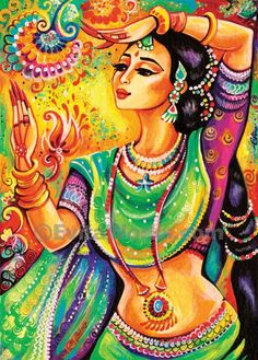 beautiful indian woman paintingfeminine beautyindian by EvitaWorks