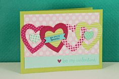 Be My Valentine Card by Erin Lincoln for Papertrey Ink (December 2012)