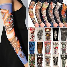 dbdcaa892 Fake Arm Tattoo 6 Arts Skin UV Sunscreen Protection Compression Sleeves  Fancy #Akstore | my eBay store | Fake tattoo sleeves, Temporary tattoo  sleeves, ...