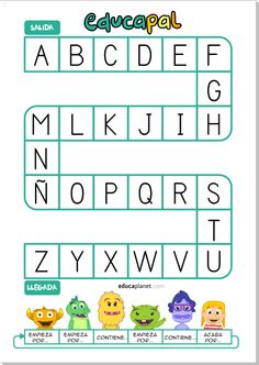 Juego Oca de las Letras: recurso educativo para imprimir GRATIS el tablero y practica conciencia fonológica y correspondencia grafema-fonema. Infant Activities, Learning Activities, Activities For Kids, Alphabet Bingo, Parent Resources, Early Childhood, Literacy, Kindergarten, Homeschool