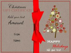 Blank Certificate  Christmas Certificate Template