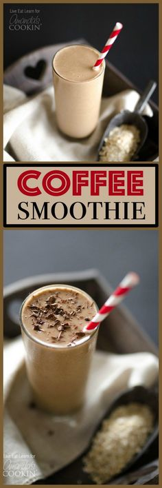 This Loaded Coffee Smoothie is packed with whole grains fruit protein and (the best part) coffee! Everything you need to get out the door in 5 minutes! For more smoothie information, click the link. Protein Smoothies, Juice Smoothie, Smoothie Drinks, Fruit Smoothies, Smoothie Bowl, Protein Fruit, Protein Recipes, Vegetarian Smoothies, Healthy Recipes