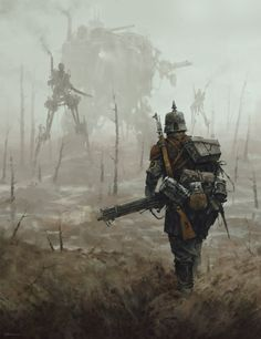 'no man's land' Saxony Empire troops encounter an new unknown and powerful enemy, from the Iron Harvest game… and obviusly my World of 1920+ ;] https://www.artstation.com/artwork/W3Nx3 https://web.facebook.com/ironharvest