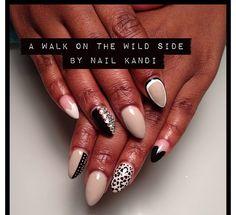 Stiletto nails - Nail Art - Nail Trend Oval Nail Art, Oval Nails, Plain Nails, Funky Nails, Make Me Up, Gorgeous Nails, Stiletto Nails, Nail Trends, Kandi