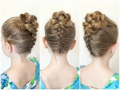 Flower Accented Side French Braid / Spring Hairstyles / Bonita Hair Do - YouTube