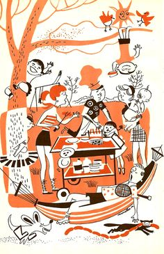 Backyard Cookout Illustration  Roger Wilkerson, The Suburban Legend!