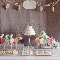 Balloon themed dessert table