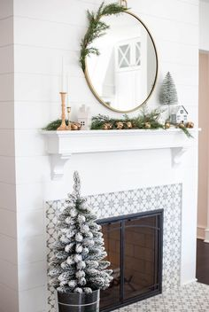 100 Indoor Minimalist Christmas Decorations » Lady Decluttered Tabletop Christmas Tree, Modern Christmas Decor, Minimal Christmas, Christmas Mantels, Christmas Home, Christmas Mantle Decorations, Mantle Decorating, Target Christmas Decor, Hallmark Christmas