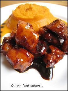 Poulet caramélisé au vinaigre balsamique et au piment d'Espelette
