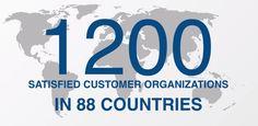 has over 1200 satisfied customer organizations in 88 countries. Organizations, Countries, Management, Organizing Clutter, Organizers, Getting Organized, Organization Ideas