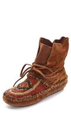 House of Harlow 1960 Madison Beaded Moccasins.. these are so cool!!!!