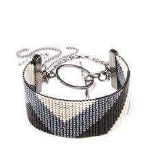 Navajo Cuff - Black/Gunmetal/Silver by Anabel Campbell