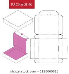 Box Template : images, photos et images vectorielles de stock Diy Gift Box, Diy Box, Diy Gifts, Gift Boxes, Paper Box Template, Box Templates, Box Template Printable, Box Patterns, Box Packaging