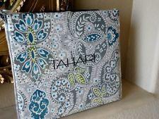 new tahari blue moroccan medallion damask 3pc king duvet cover