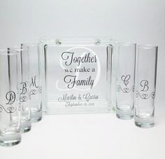 Unity Candle Alternative - Blended Family Unity Sand Set - Together We Make a Family Monogram