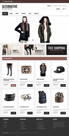 Before you buy it, have a closer look at this professional Responsive Alternative Store WooCommerce Theme ( - get to know tech characteristics and requirements, read testimonials, ask a question. Web Design Software, Ecommerce Website Design, Web Design Tips, App Design, Lands End, Architecture Design, Custom Website Design, Coffee Design, Website Design Inspiration