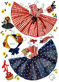 Spent many, many hours playing with paper dolls.  This style was my FAVORITE!