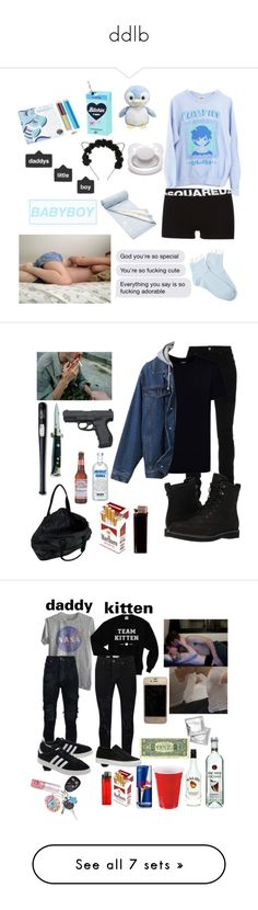 """ddlb"" by sadaiden ❤ liked on Polyvore featuring Forever 21, Dsquared2, Abrams, Mamas & Papas, men's fashion, menswear, AMIRI, Kloters Milano, Timberland and STELLA McCARTNEY"