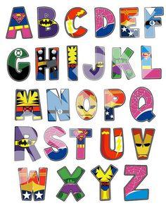 Resultado de imagen de materiales infantiles superhéroes capa con números