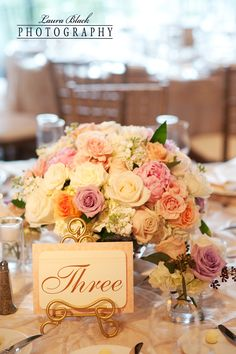 Romantic pastel centerpiece.