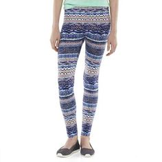 Pink Republic Graphic Print Long Leggings - Juniors