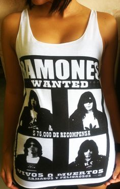 WOMENS PUNK TANK TOP ROAD TO RUIN ALBUM COVER AMERICAN THE RAMONES S-2XL