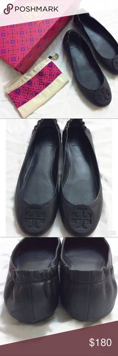 TORY BURCH NAVY MINNIE TRAVEL BALLET FLATS Cute & Classic Tory Burch Flats in versatile Navy. Minnie Travel with logo. Buttery Nappa Leather & very Comfortable wear. Excellent Condition & only Worn a couple of times. Small wear on the back of the sole, as pictured. Hard to see. Size 7. Box & dust bag included. Tory Burch Shoes Flats & Loafers