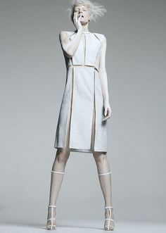 white fashion: dress and sandals | Fashion + Photography | Design: Alexander Wang |