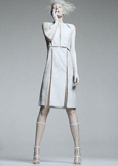 white fashion: dress and sandals | Fashion + Photography | Design: Alexander Wang |
