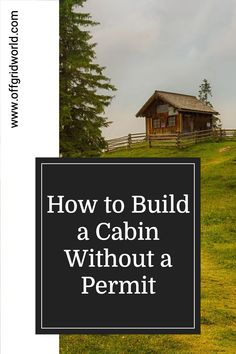You really can build a little cabin for cheap without a permit. The only limitation really is your own lifestyle choices and the comfort level with which you are willing to live. Here we'll discuss how to build your own off grid tiny cabin without a permit. #offgrid #cabin #tinycabin #offgridliving #offgridcabin #diycabin Small Log Cabin, Little Cabin, Building A Cabin, Building Code, Diy Cabin, Cabin Ideas, House Ideas, Sustainable Living, Sustainable Ideas