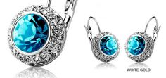 $10 for Blue Austrian Crystal Kate Middleton Inspired Earrings! - Tax Included ($89 Value)