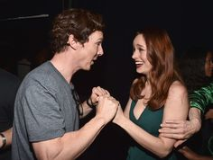 Benedict Cumberbatch and Brie Larson attend the San Diego Comic-Con.