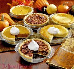 Easy Miniature Pies - 6 inch pie recipes: coconut custard, pecan, and pumpkin (plus crust recipe)