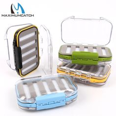 Maximumcatch Waterproof Fly Fishing Box With Slit Foam Fish Lure Hook Bait Fly Box Fishing Tackle Box - Fishing Equipments Fishing Tackle Box, Fishing Life, Going Fishing, Ice Fishing, Bass Fishing, Tackle Bags, Tackle Shop, Fishing Equipment, Bait