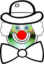Clown Handwerk Idee – Herz – Rebel Without Applause Clown Crafts, Carnival Crafts, Cd Crafts, Diy Arts And Crafts, Easy Halloween Makeup, Theme Carnaval, Puzzle Crafts, Learning Games For Kids, Mask Template