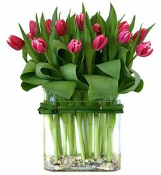 Wedding Flowers Tulips Bouquet Vase 45 Ideas For 2019 Deco Floral, Arte Floral, Floral Design, Beautiful Flower Arrangements, Beautiful Flowers, Artificial Floral Arrangements, Tulpen Arrangements, Table Arrangements, Tulip Bouquet