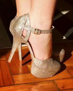 Scarpin Meia Pata Em Glitter - Marina Borja Calçados