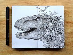 Sketchy Stories by Kerby Rosanes Ink Illustrations, Illustration Art, Stylo Art, Books Art, Pen Doodles, Artist Sketchbook, Detailed Drawings, Freelance Graphic Design, Pen Art