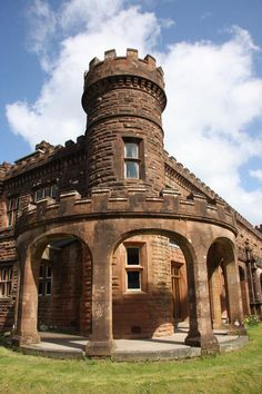 Kinloch Castle, Island of Rum, Scotland, built in 1897 by Sir George Bullough. by B. Lowe
