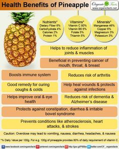 health benefits of pineapple.