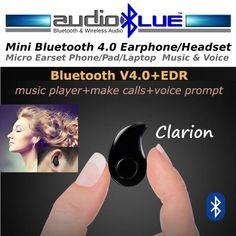 Micro Wireless Bluetooth 4.0 + EDR Headset -Connect phone/devices #MicroMediaSoundTECH