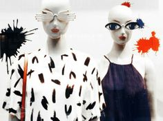 "Mango,close-up mannequins, ""paintball"", pinned by Ton van der Veer"