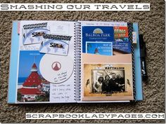 travel smashbook by Katie the Scrapbook Lady