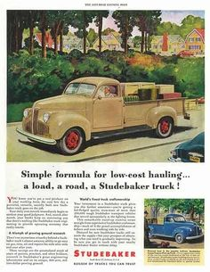 Studebaker truck ad