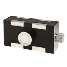 View this item and discover similar for sale at - A very unusual and stylish gentleman's drinks flask in the form of a stylized 'camera', the rectangular chrome-plated body bound in stitched dark brown