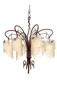 Varaluz Soho HO Six Light Recycled Soho Chandelier 126C06HO