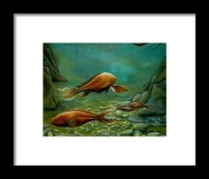 Framed Art Print,  underwater,world,scene,fish,ocean,life,seascape,water,sea,bottom,floor,big,reefs,rocks,stones,pebbles,sand,depth,green,brown,beautiful,image,fine,oil,painting,contemporary,scenic,modern,virtual,deviant,wall,art,awesome,cool,artistic,artwork,for,sale,home,office,decor,decoration,decorative,items,ideas
